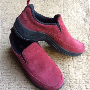 L.L. Bean red loafer shoes size 6 M